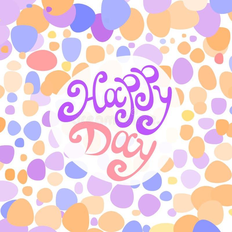 Wektorowy Szczęśliwy dzień ilustracji