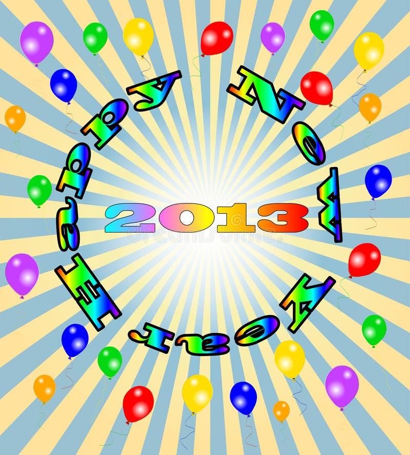 Wektorowy Szczęśliwy Nowy Rok - 2013 kolorowych tło royalty ilustracja