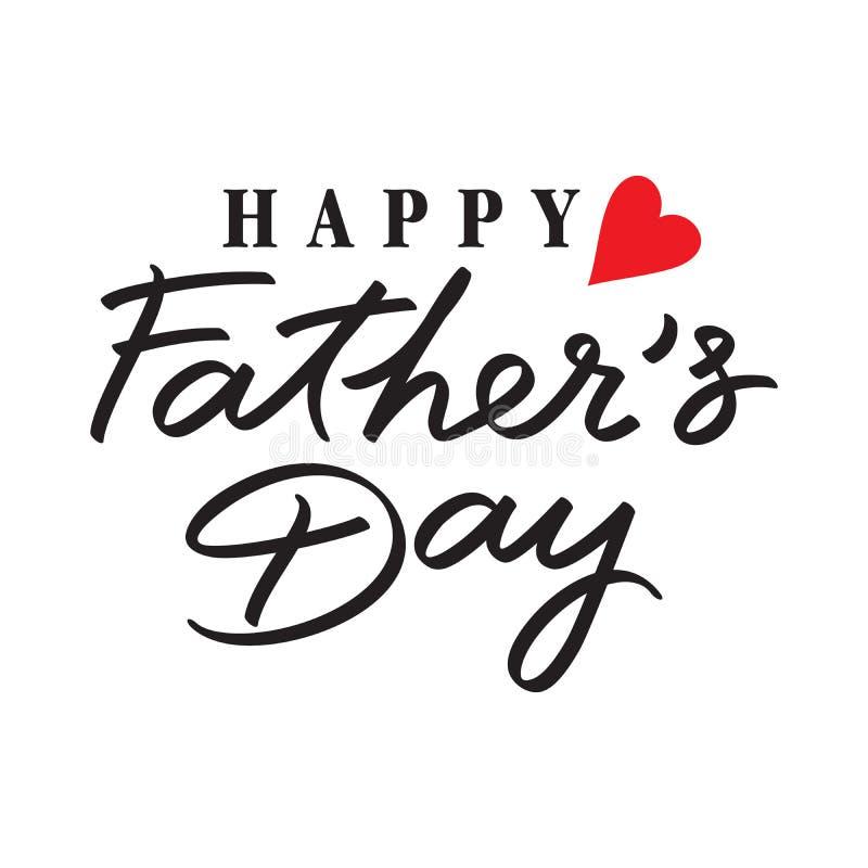 Wektorowy szczęśliwy ojca dzień royalty ilustracja