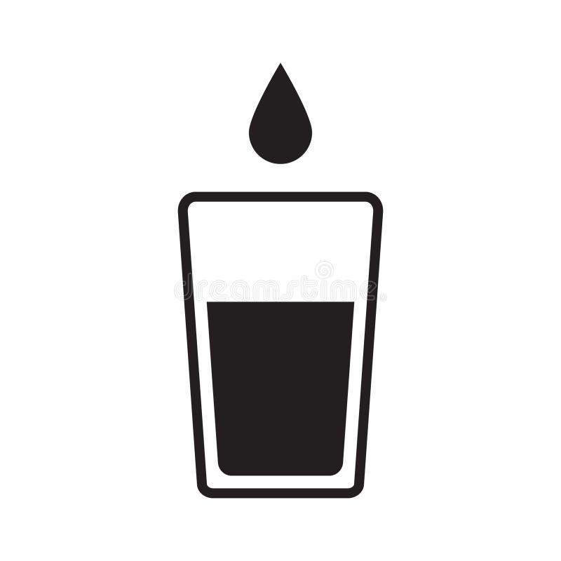 Wektorowy szkło odizolowywający wodna ikona ilustracja wektor