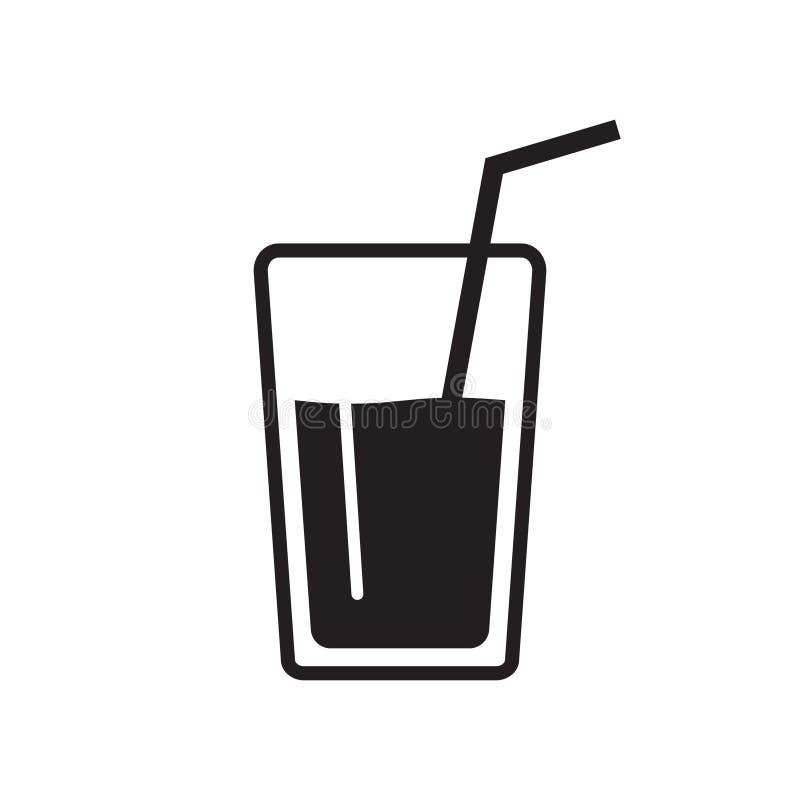 Wektorowy szkło wodne ikony, świeża soku napoju ikona ilustracja wektor