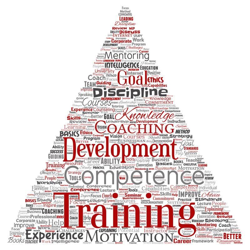 Wektorowy szkolenie, trenowanie lub uczenie, nauka royalty ilustracja