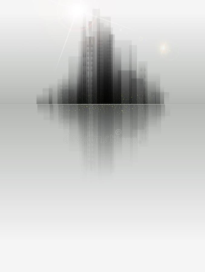 Wektorowy sztandar dla biznesu z miastem royalty ilustracja