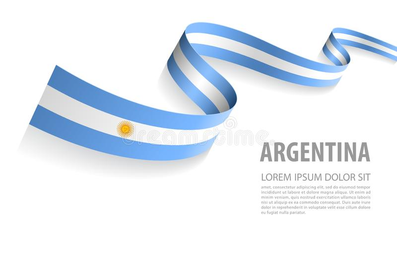 Wektorowy sztandar z Argentyna flaga kolorami ilustracji