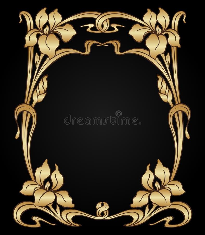 Wektorowy sztuki nouveau ornament royalty ilustracja