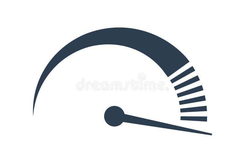 Wektorowy szybkościomierz internet prędkości ikona szybki występ ilustracja wektor