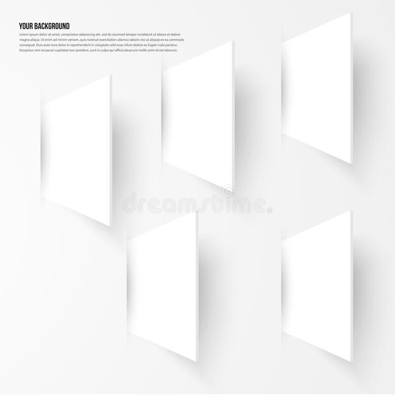 Wektorowy tło abstrakta fractal Cienia projekt ilustracja wektor