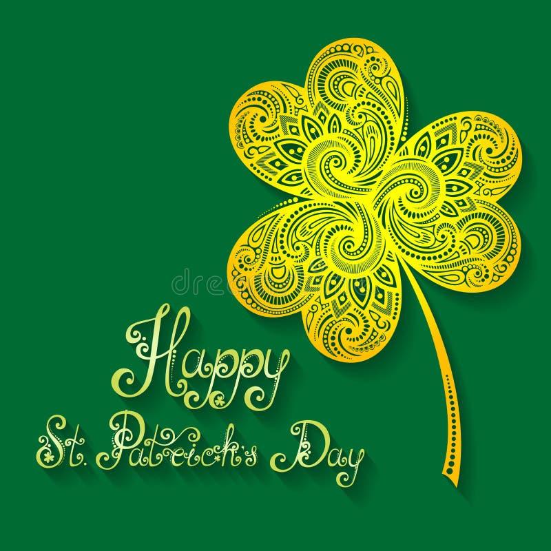 Wektorowy tło dla St Patrick dnia, Wakacyjny literowanie ilustracji