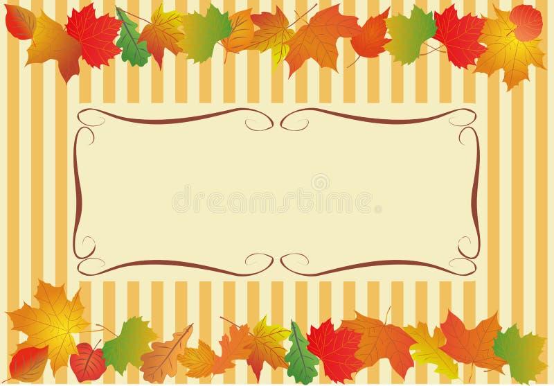 Wektorowy tło dla teksta z jesień liśćmi ilustracji