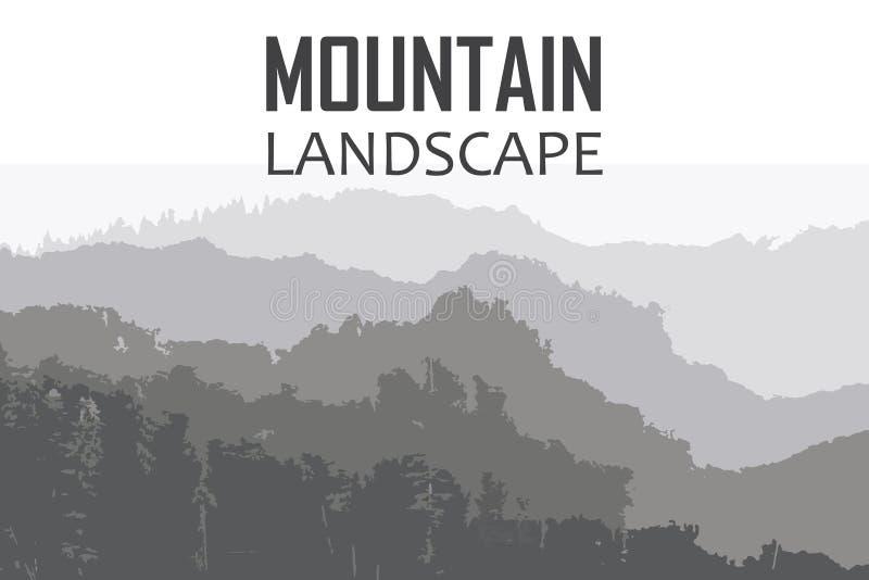 Wektorowy tło na temacie pięcie, Wycieczkować, Trekking, Mountaineering royalty ilustracja