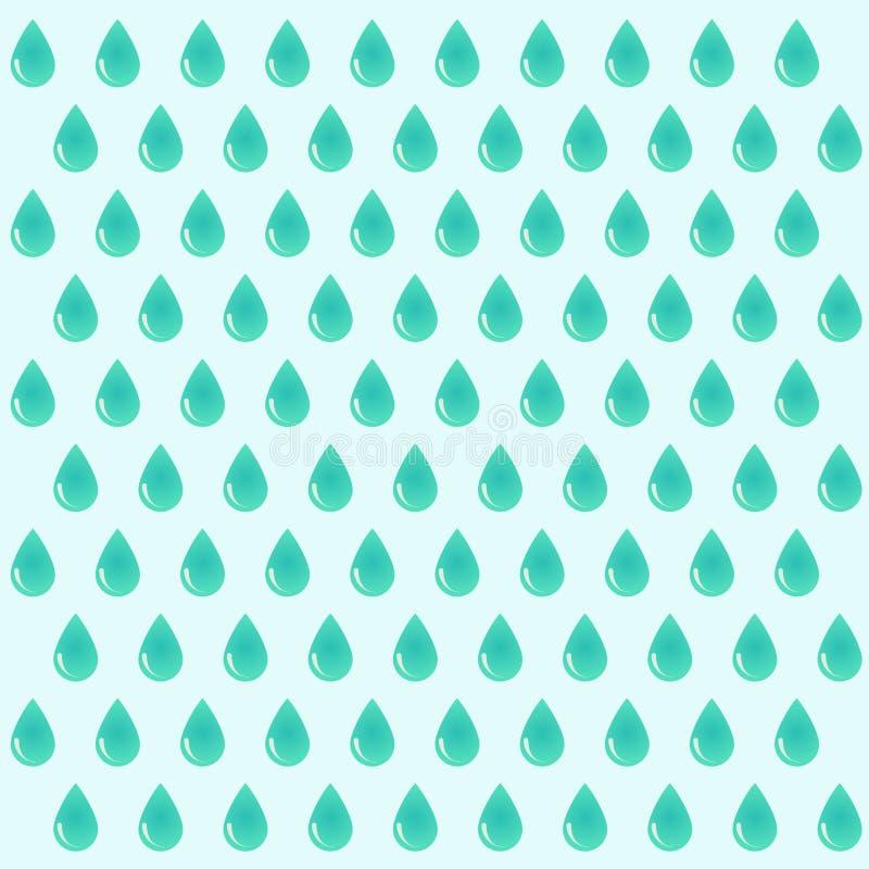 Wektorowy tło raindrops eps ilustracji