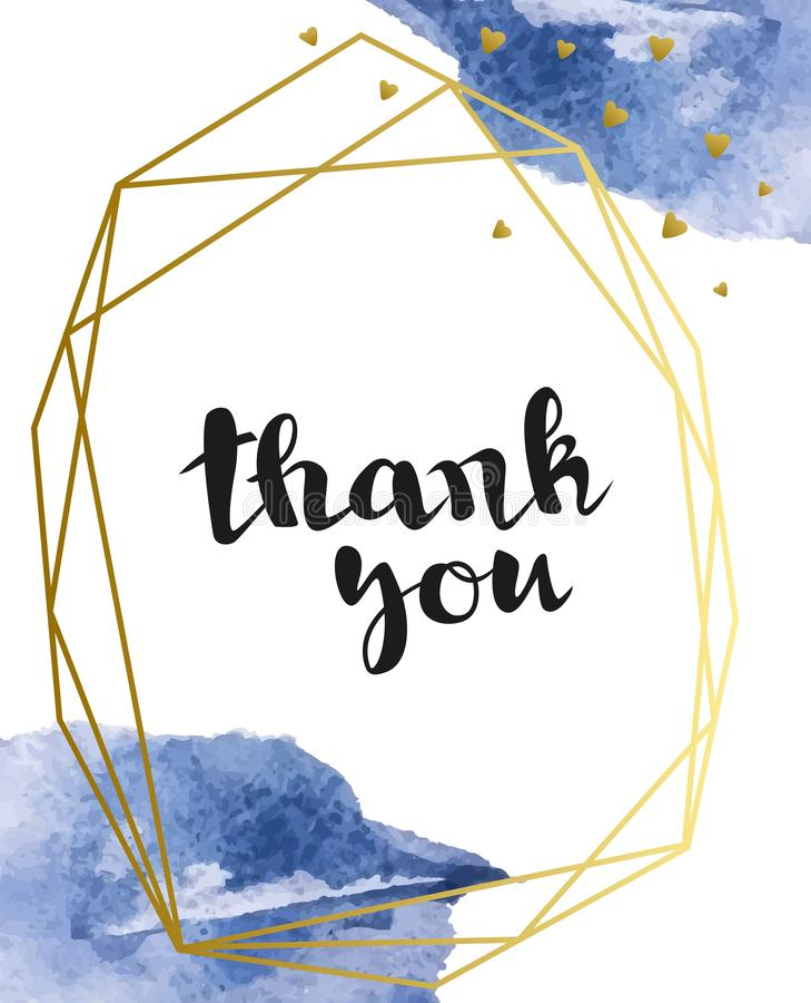 Wektorowy tło z błękitnymi akwareli muśnięcia uderzeniami i inskrypcja «dziękujemy was « Akwareli splatters ilustracja wektor