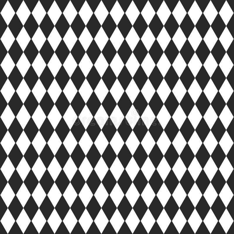 Wektorowy tło z czarny i biały rhombus royalty ilustracja