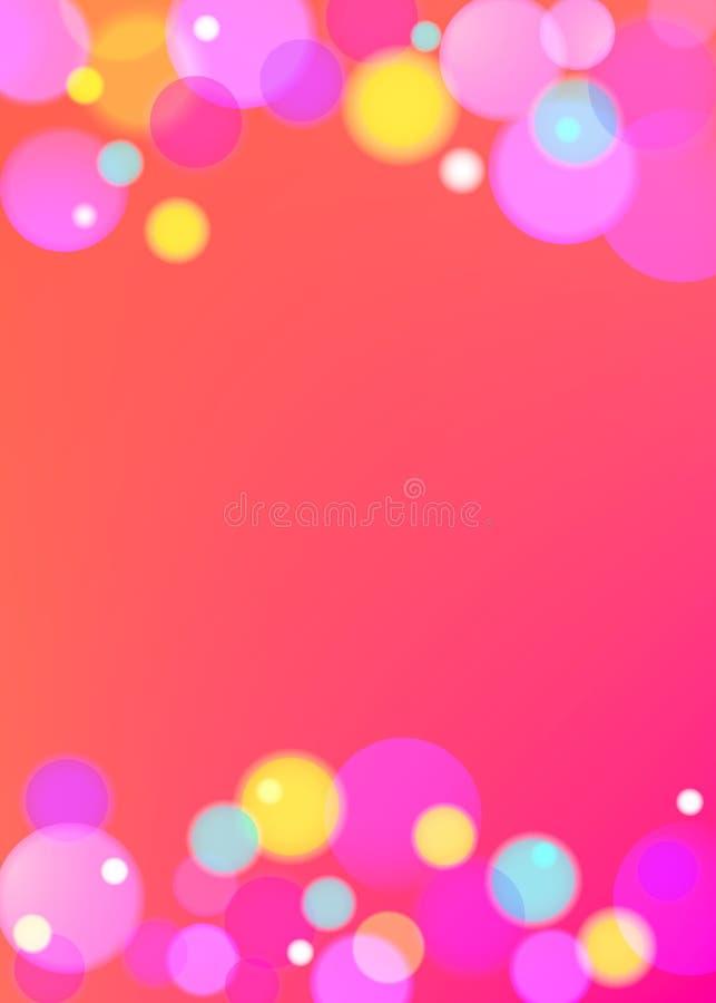 Wektorowy tło z kolorów bąblami royalty ilustracja