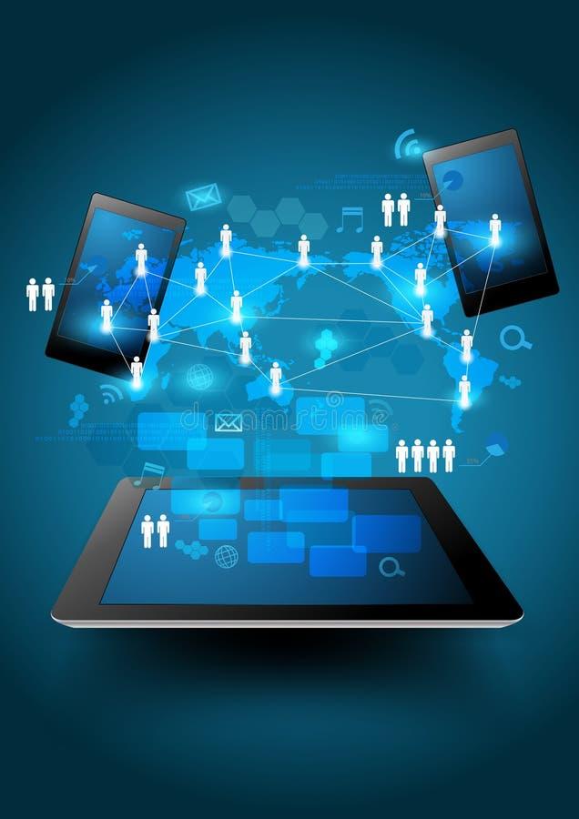 Wektorowy technologia biznes ilustracja wektor