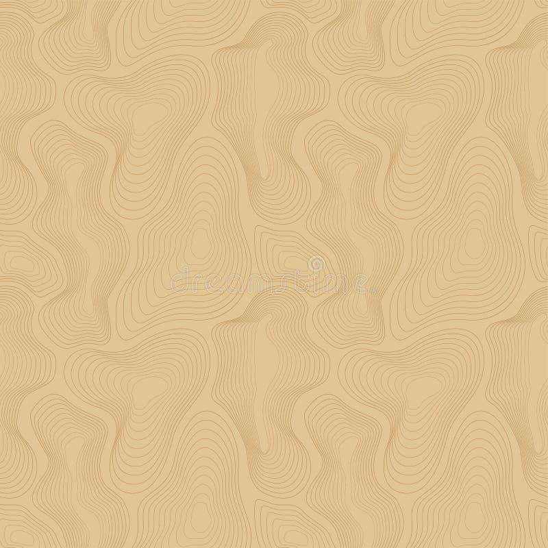 Wektorowy topograficznej mapy bezszwowy wzór, wyginać się linie ilustracji