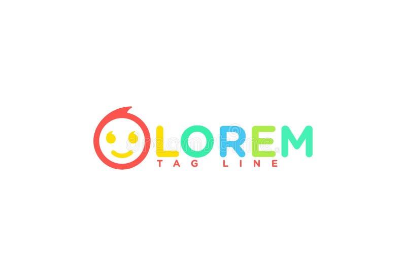 Wektorowy uśmiechu logo projekt ilustracja wektor