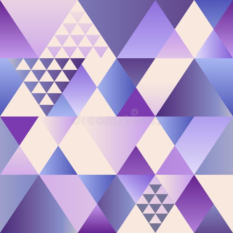 Wektorowy ultrafioletowy art deco bezszwowy wzór Nowożytny geometryczny tekstura abstrakta tło Nowożytny abstrakcjonistyczny proj ilustracji