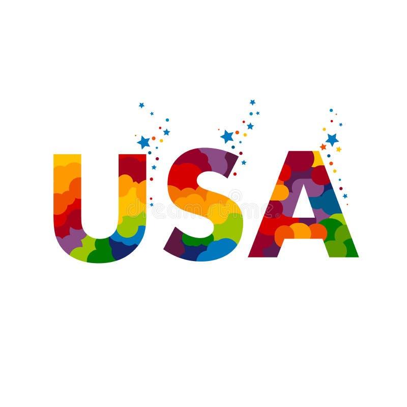 Wektorowy ` usa ` logo ilustracja wektor
