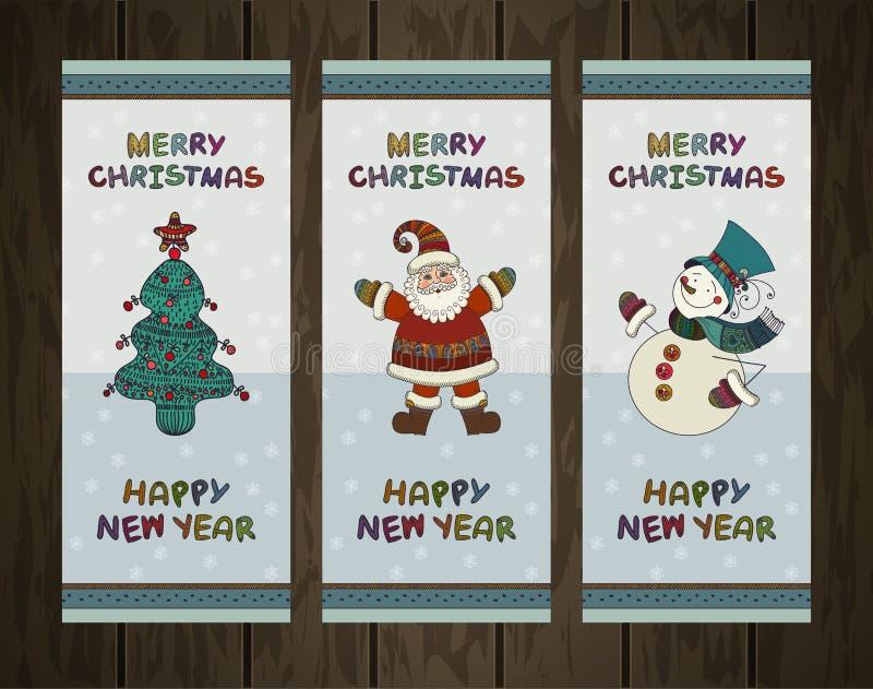 Wektorowy ustawiający bożych narodzeń tła Boże Narodzenia ilustracja wektor