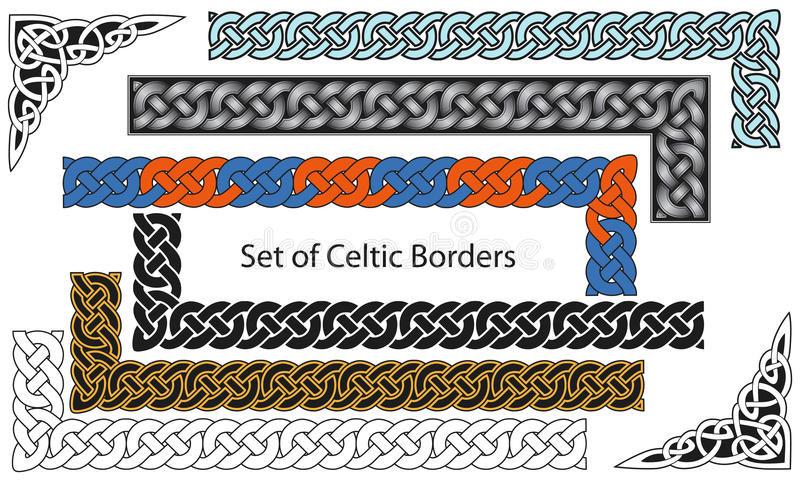 Wektorowy ustawiający Celta stylu granicy ilustracji