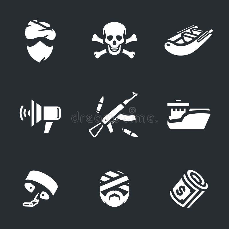 Wektorowy Ustawiający Denni piraci ilustracja wektor