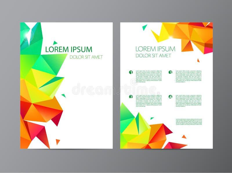 Wektorowy ustawiający dokument, broszurka i letterhead szablon, listu lub loga stylu pokrywy projektujemy mockup ustawiającego dl ilustracja wektor