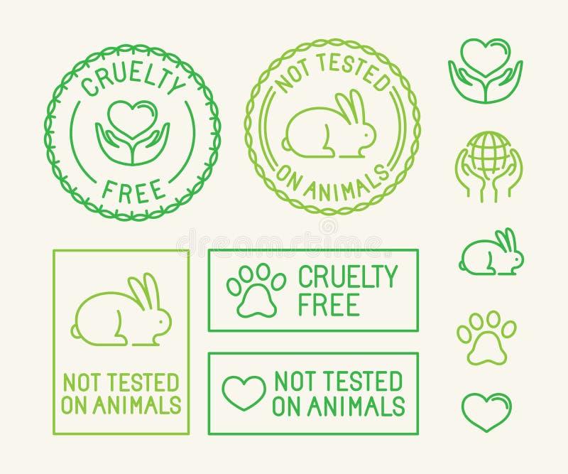 Wektorowy ustawiający ekologia znaczki dla pakować i odznaki ilustracji