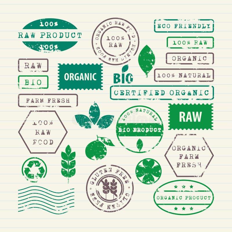 Wektorowy ustawiający ekologii zdrowy jedzenie środowisko i ilustracji