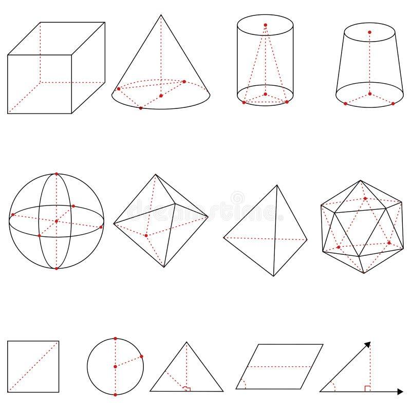 Wektorowy Ustawiający Geometrical kształty ilustracja wektor