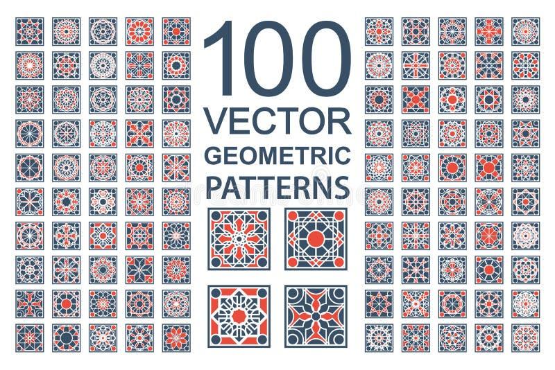 Wektorowy Ustawiający Geometryczni wzory ilustracja wektor