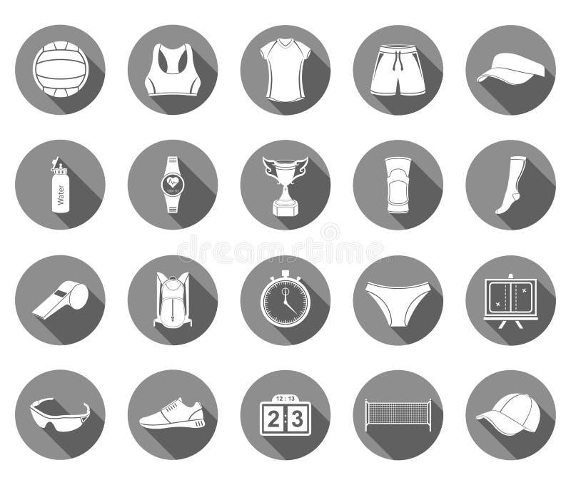 Wektorowy ustawiający ikony siatkówka ilustracji