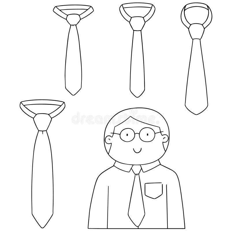 Wektorowy ustawiający krawat ilustracja wektor