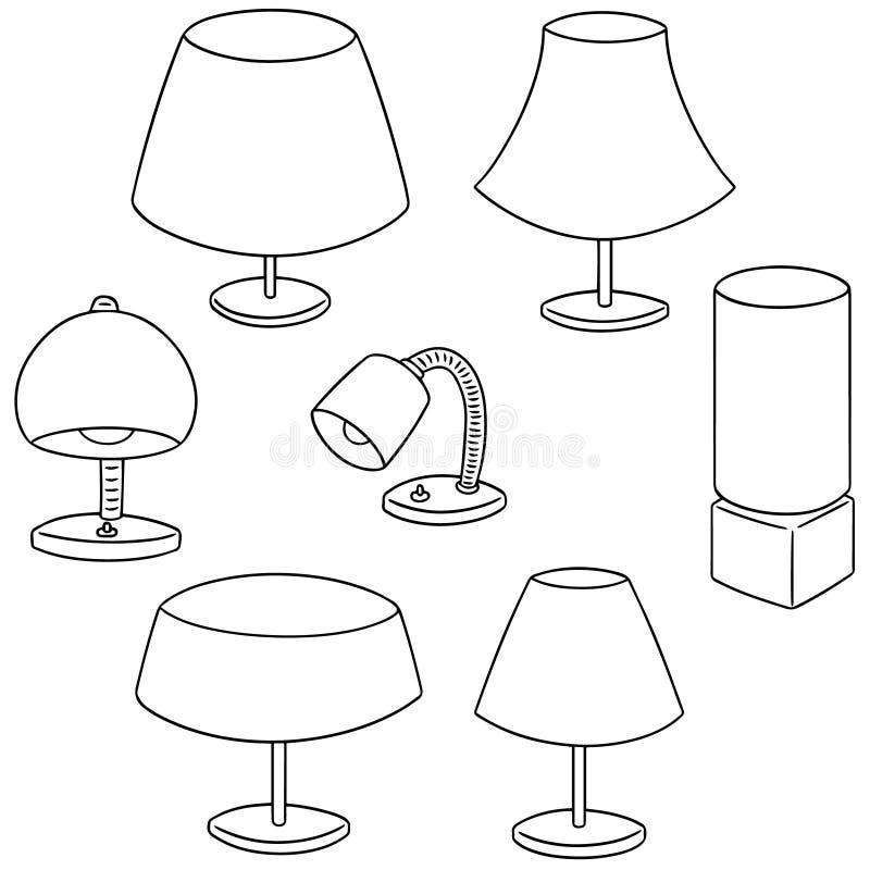 Wektorowy ustawiający lampa ilustracji