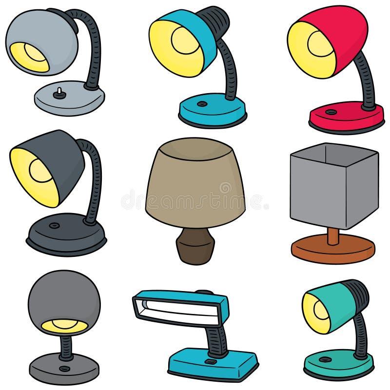 Wektorowy ustawiający lampa royalty ilustracja