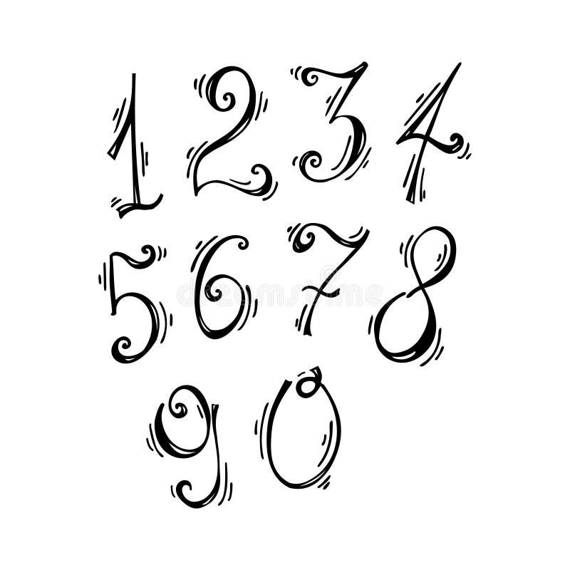 Wektorowy ustawiający liczby ilustracji