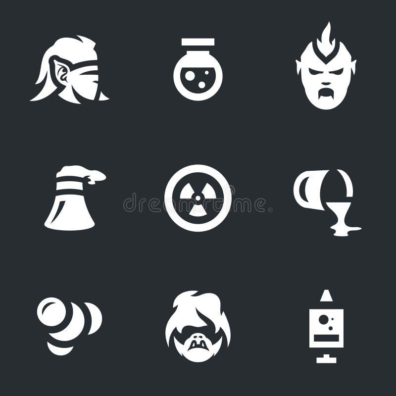 Wektorowy Ustawiający ludzie mutacj ikon ilustracja wektor