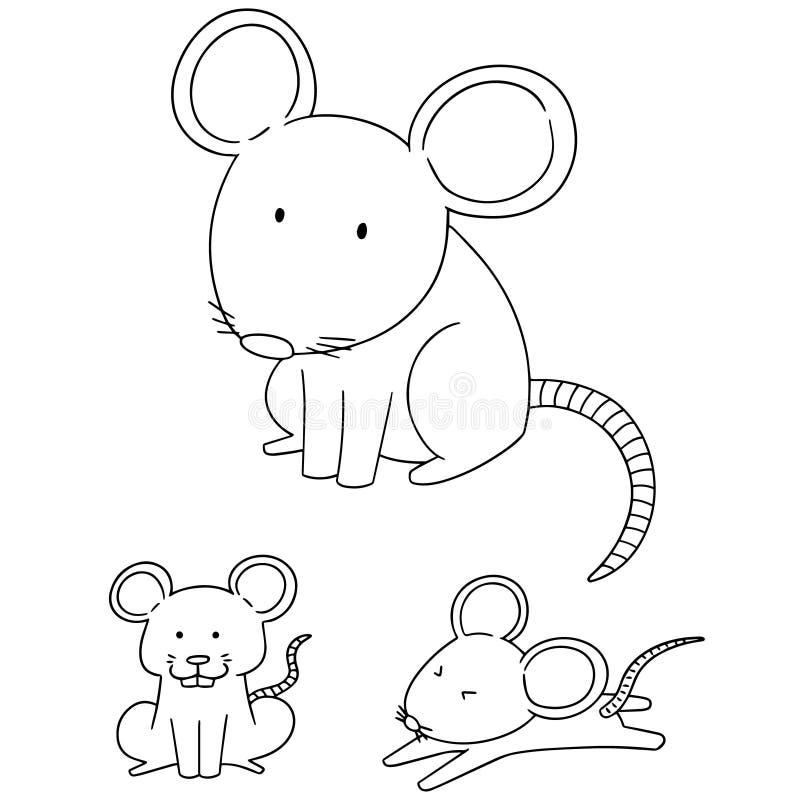 Wektorowy ustawiający mysz royalty ilustracja