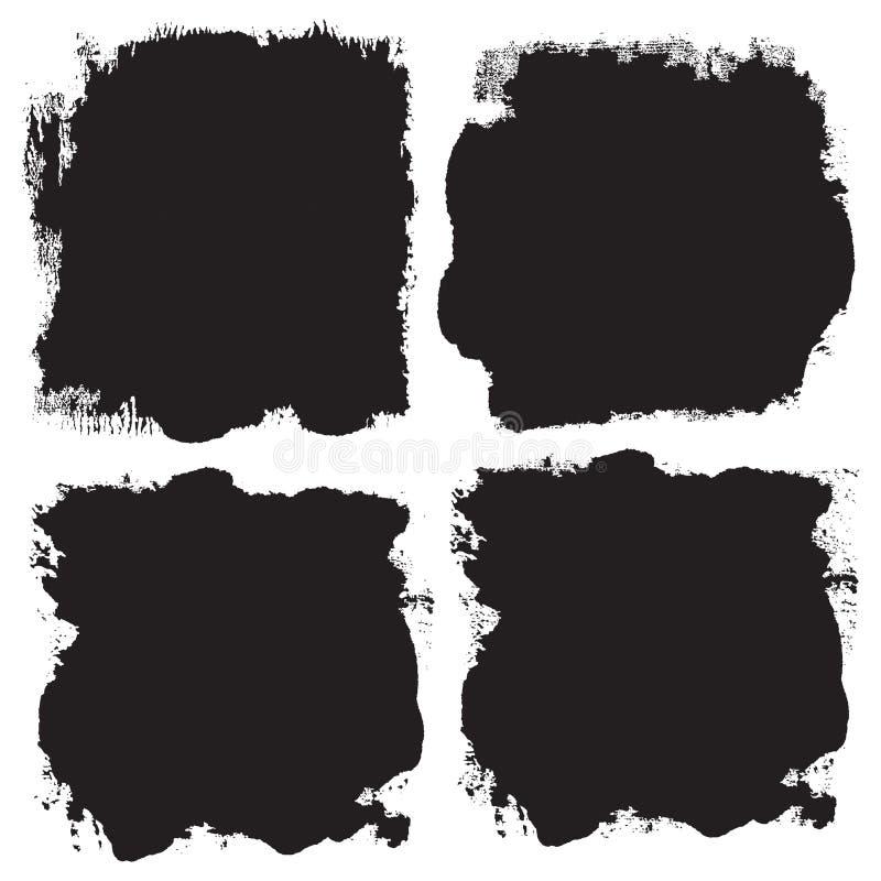 Wektorowy Ustawiający nakreślenia Grunge brudu narzuty tekstura, jednostka protestuje zdjęcie stock