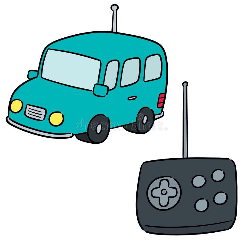 Wektorowy ustawiający pilot do tv samochód royalty ilustracja