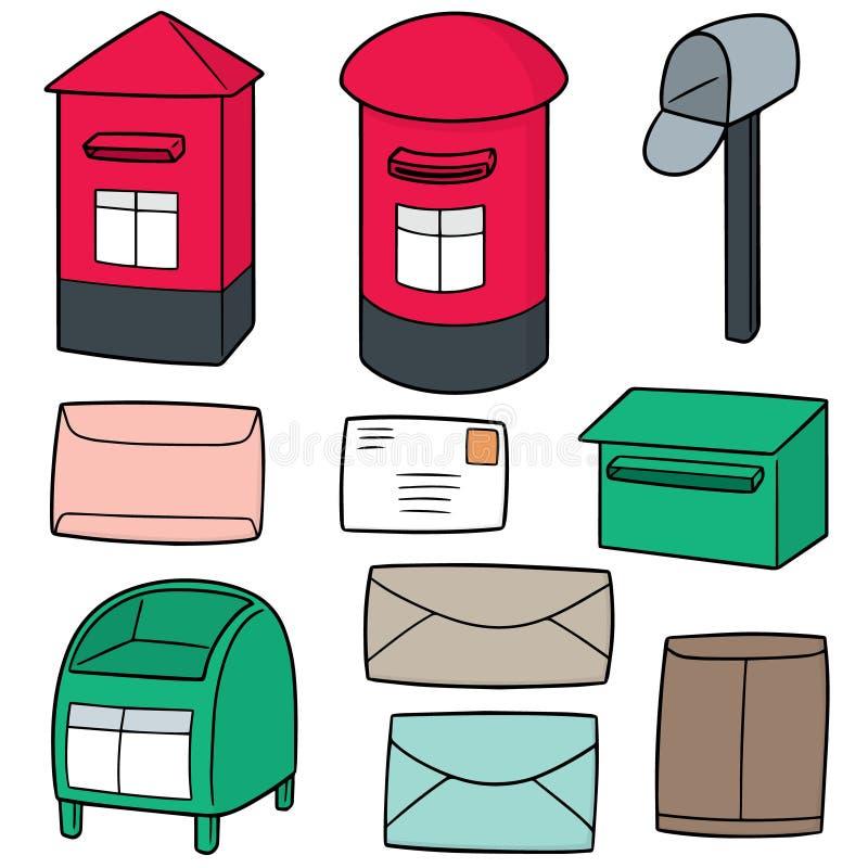Wektorowy ustawiający postbox ilustracja wektor