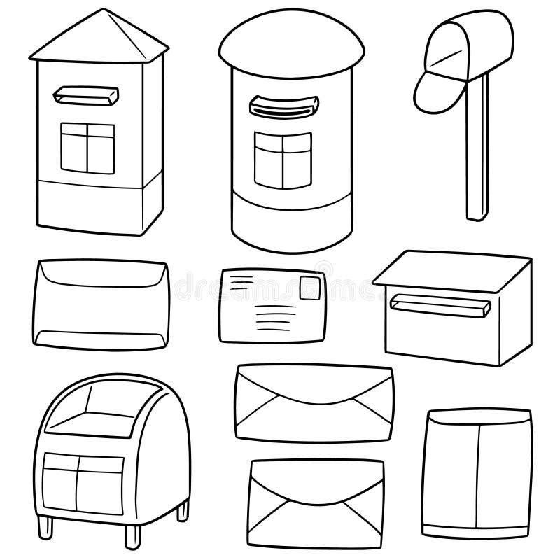 Wektorowy ustawiający postbox ilustracji