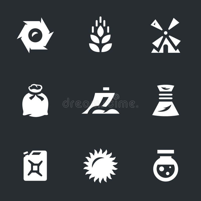 Wektorowy Ustawiający Pszeniczne ikony royalty ilustracja