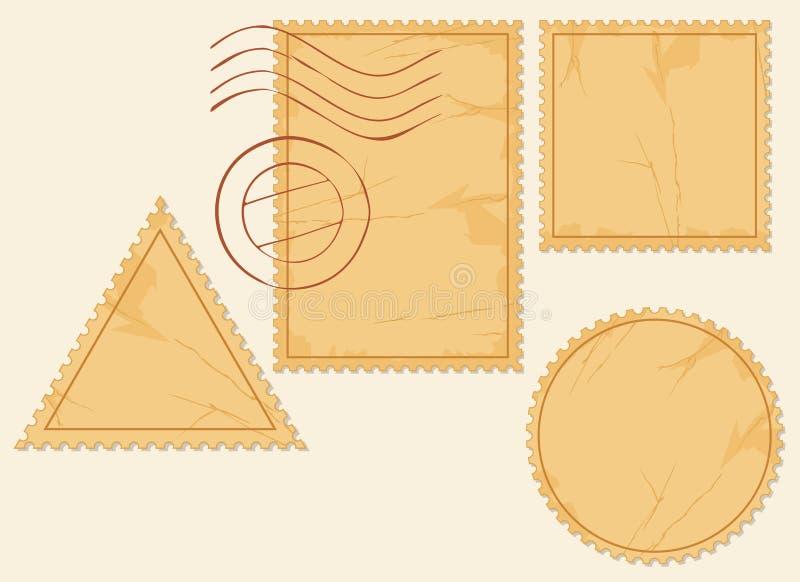 Znaczek pocztowy royalty ilustracja