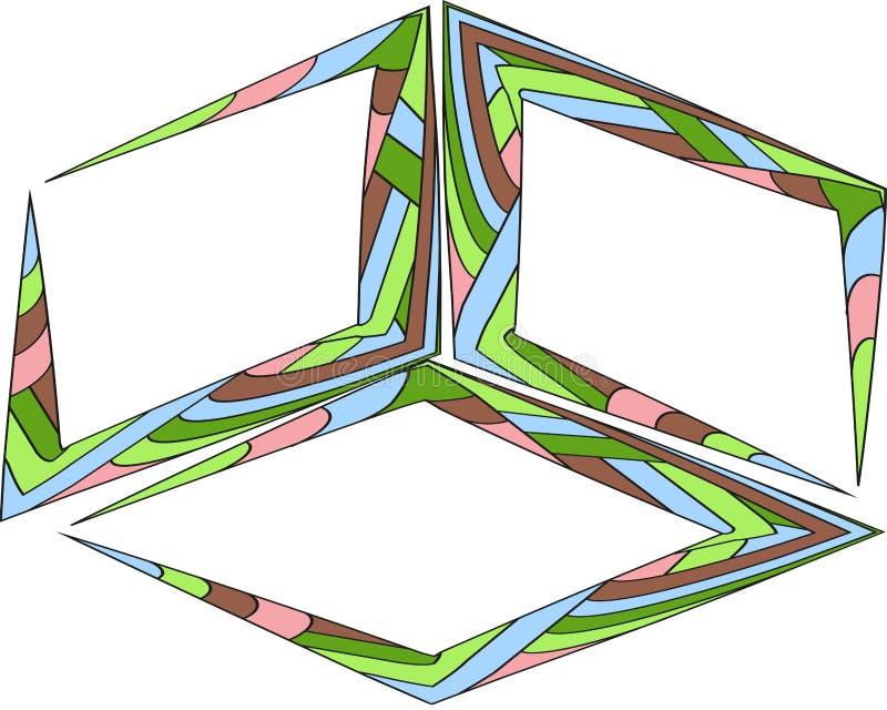 Wektorowy ustawiający wycena tworzy szablon Kolorowi jaskrawi tła Akwarela pokrywa się muśnięcie ramę Puści kolorowi mowa bąble royalty ilustracja