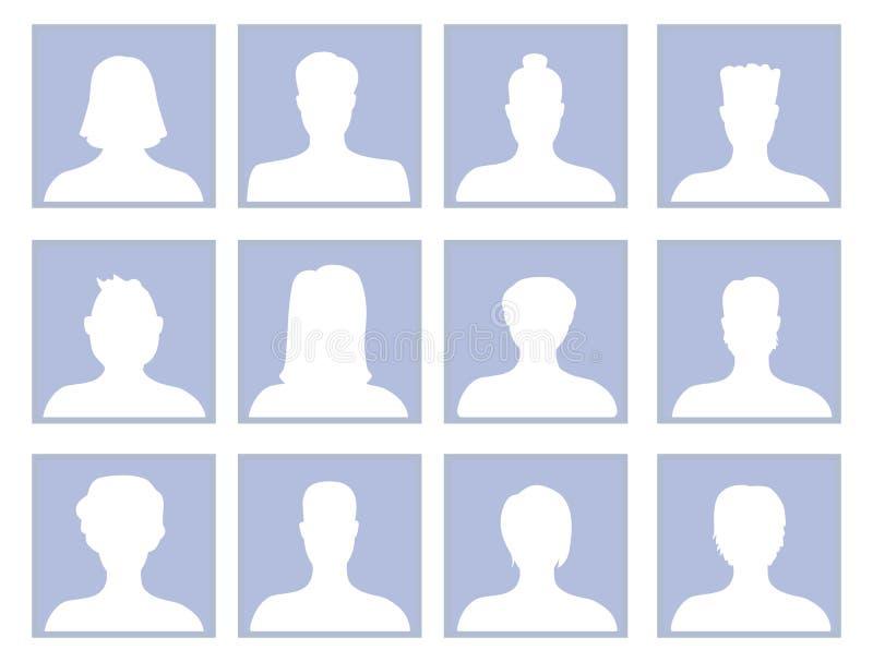 Wektorowy ustawiający z avatar ikonami royalty ilustracja