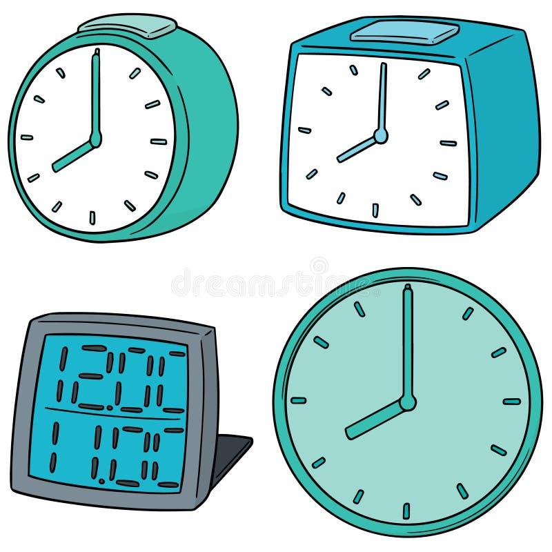 Wektorowy ustawiający zegar royalty ilustracja