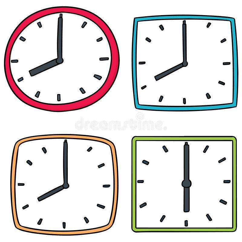 Wektorowy ustawiający zegar ilustracja wektor