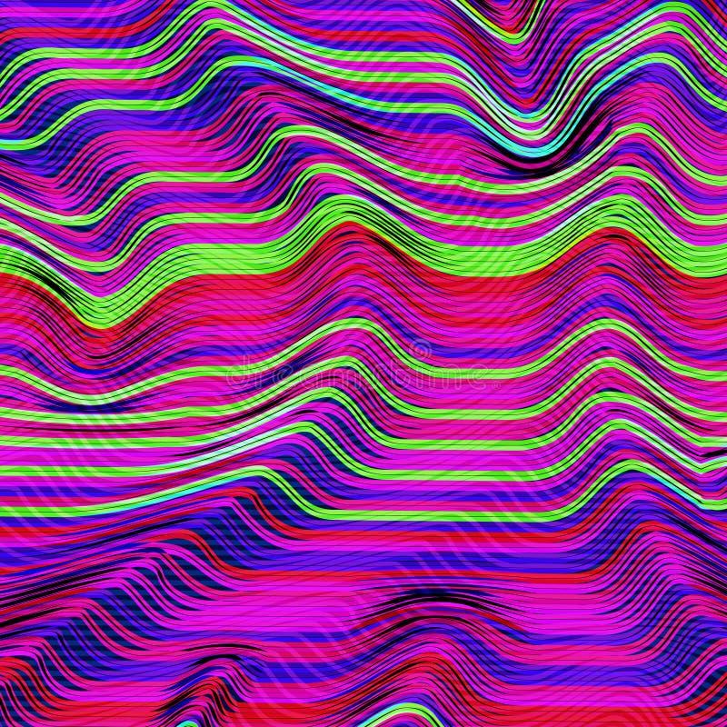 Wektorowy usterki tło Obrazów cyfrowych dane wykoślawienie Korumpująca wizerunek wektorowa kartoteka Kolorowy abstrakcjonistyczny royalty ilustracja
