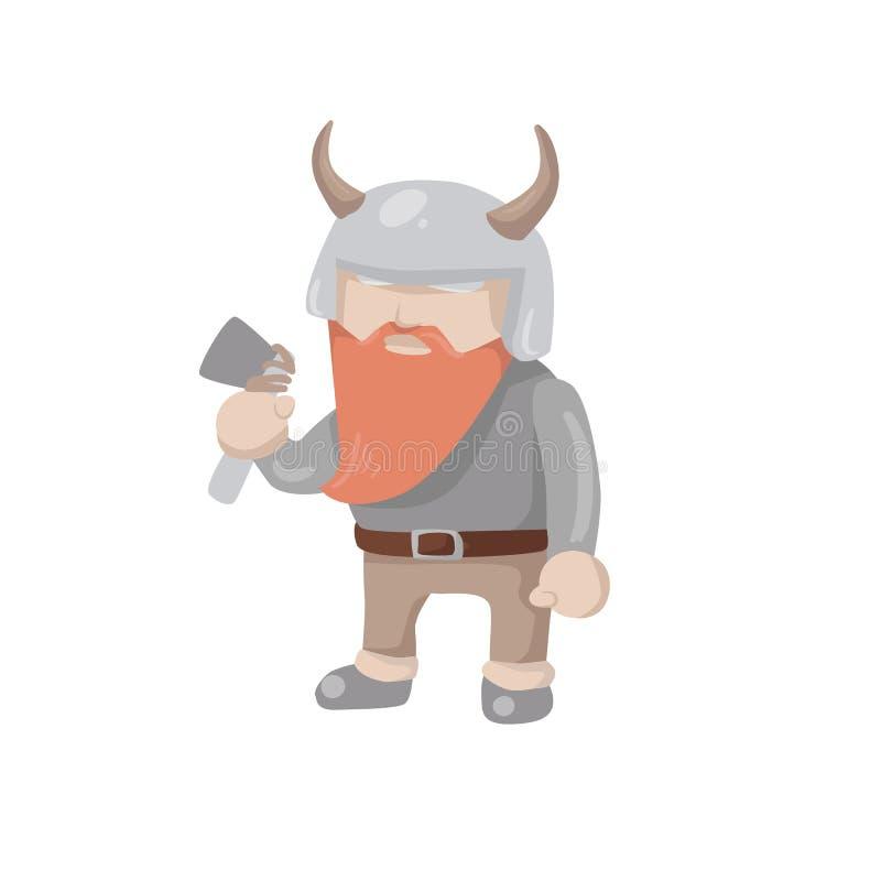 Wektorowy Viking odizolowywał royalty ilustracja